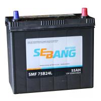 Аккумулятор SEBANG 55 А/ч SMF 60D20KL ОБР EN480