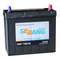 Аккумулятор SEBANG 55 А/ч SMF 75B24L ОБР  EN520