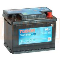 Аккумулятор TUDOR  AGM 60 А/ч TK600 ОБР EN680
